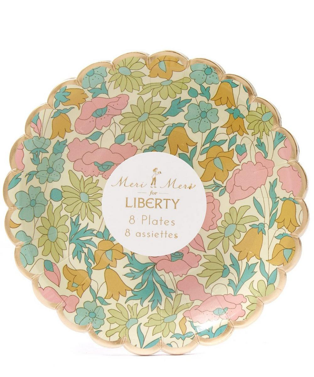 Tiny Poppy and Daisy Liberty Print Canape Plates