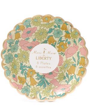Tiny Poppy and Daisy Liberty Print Canape Plates