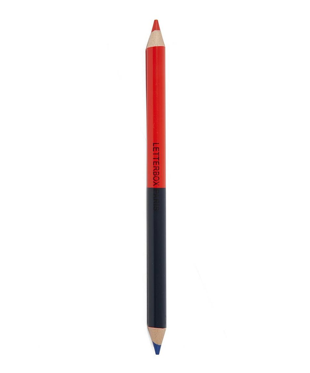 Red and Blue Double Pencil