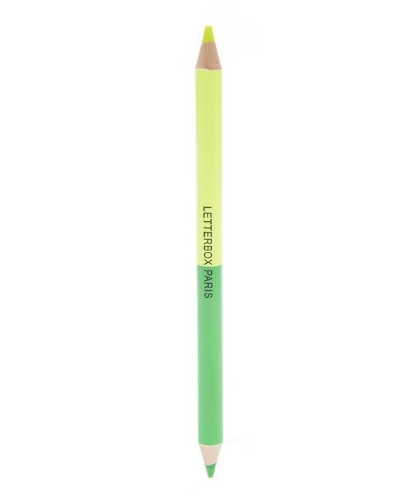 Green and Yellow Double Pencil