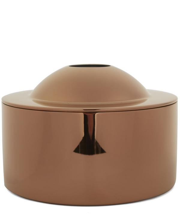 Copper-Tone Brew Biscuit Tin