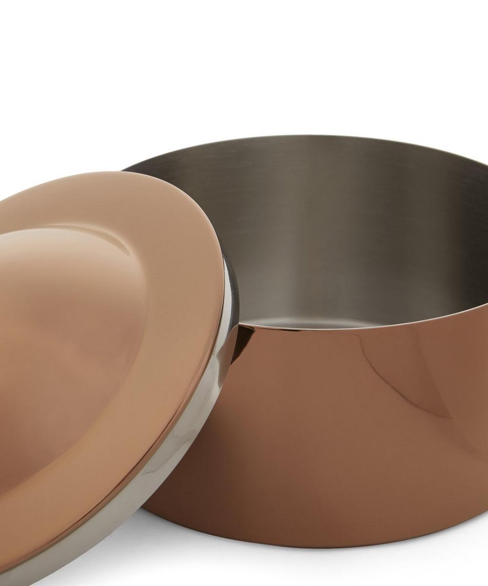 Copper-Tone Brew Biscuit Tin
