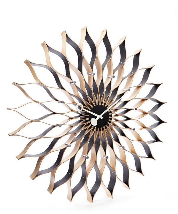 George Nelson Birch Sunflower Clock