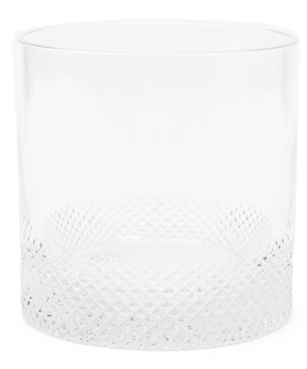 Diamond-Cut Crystal Ice Bucket