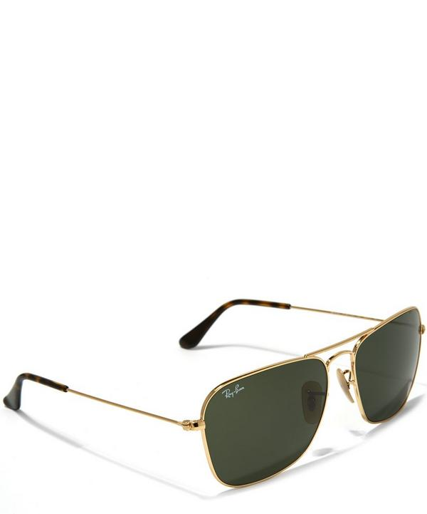 Vintage Square Aviator Sunglasses