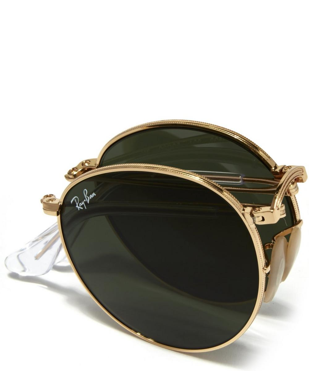Vintage Round Folding Sunglasses