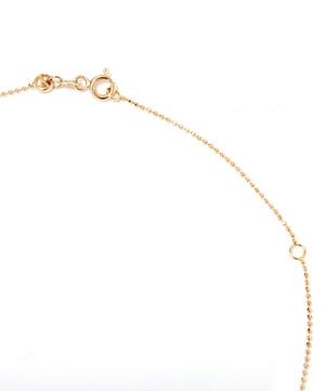 Rose Gold Evil Eye White Diamond Necklace