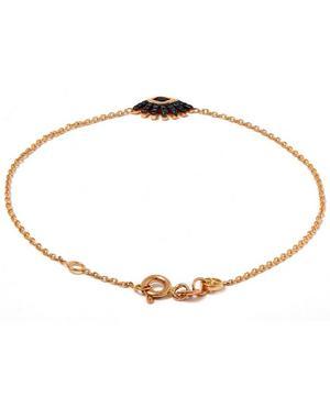 Rose Gold Evil Eye Sapphire Bracelet