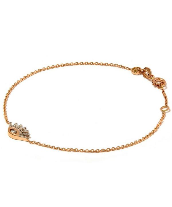 Rose Gold Evil Eye White Diamond Bracelet