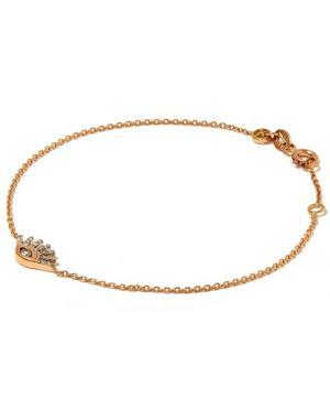 Rose Gold Evil Eye White Diamond Bracelet