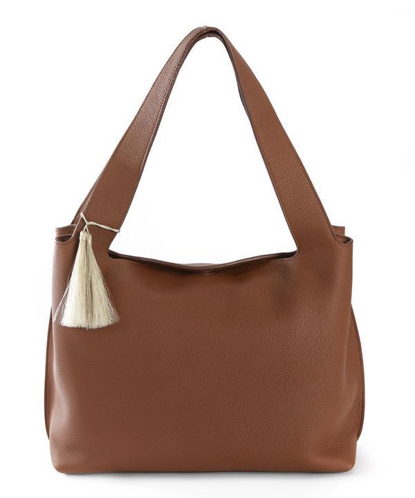 Duplex Leather Shoulder Bag With Tassel