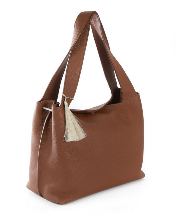 Duplex Leather Shoulder Bag With Tassel