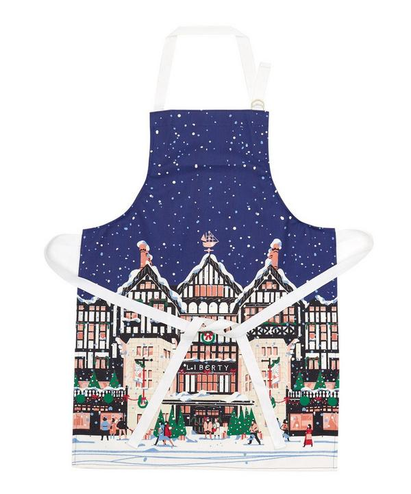 Text Santa Charity Christmas Apron