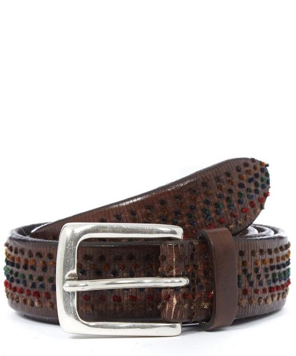 Bobbled Texture Leather Belt