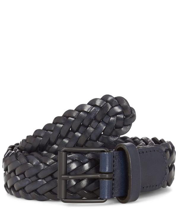 Leather Woven Belt