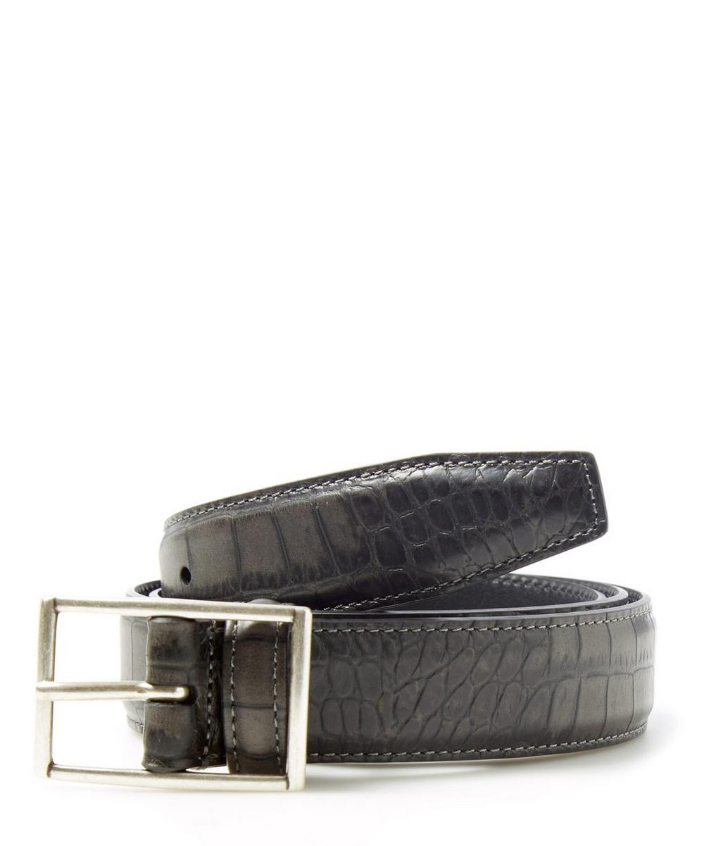 Mock Crock Print Belt