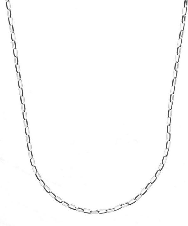 Silver Fine Open Link Chain Necklace