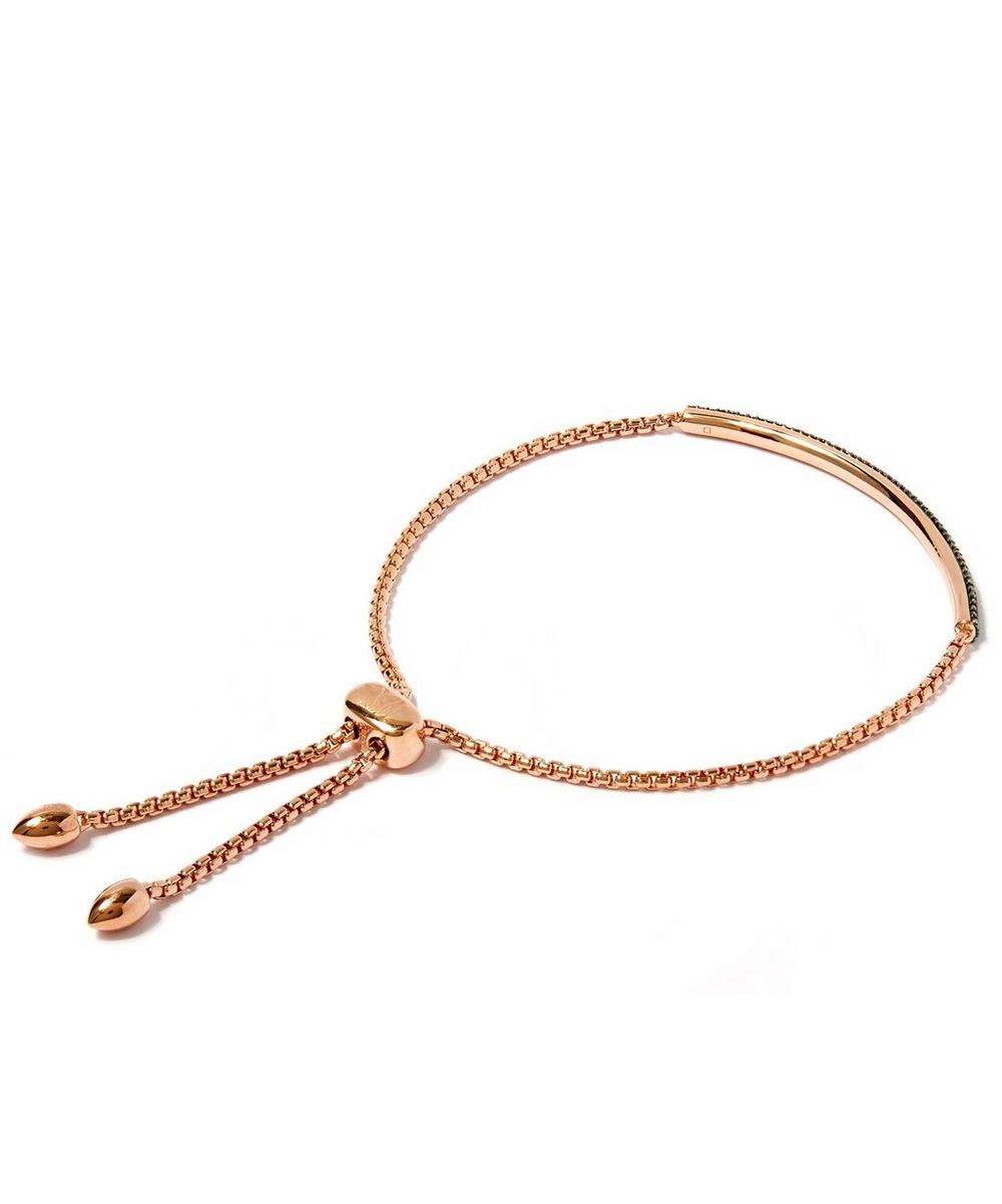 Rose Gold-Plated Stellar Diamond Mini Bar Bracelet