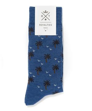 Palm Tree Print Socks