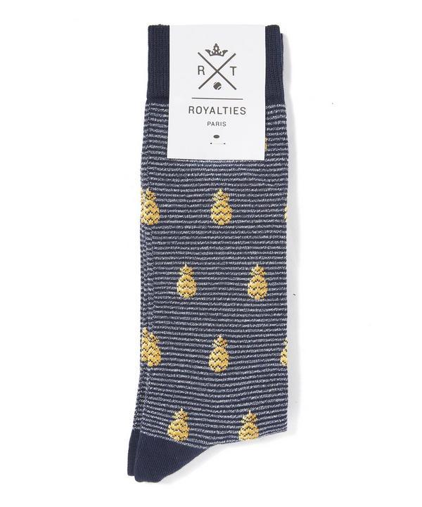 Ananas Pineapple Print Socks