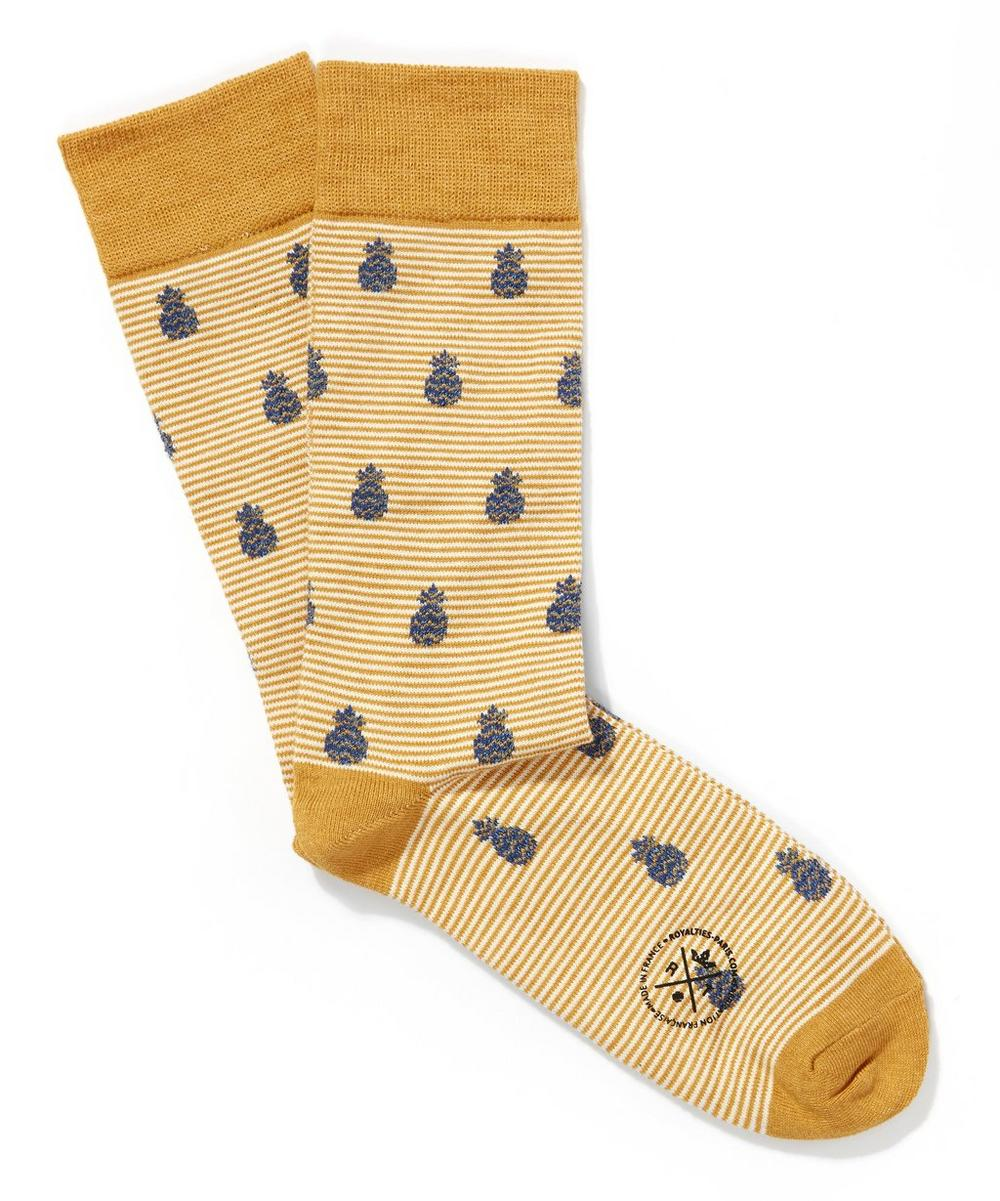 Ananas Pineapple Print Socks