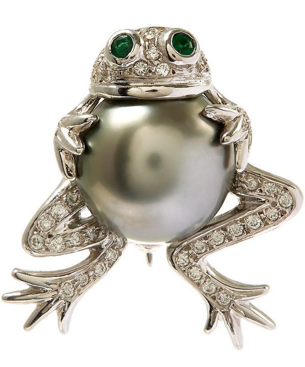 Tahitian Pearl Frog Diamond Brooch