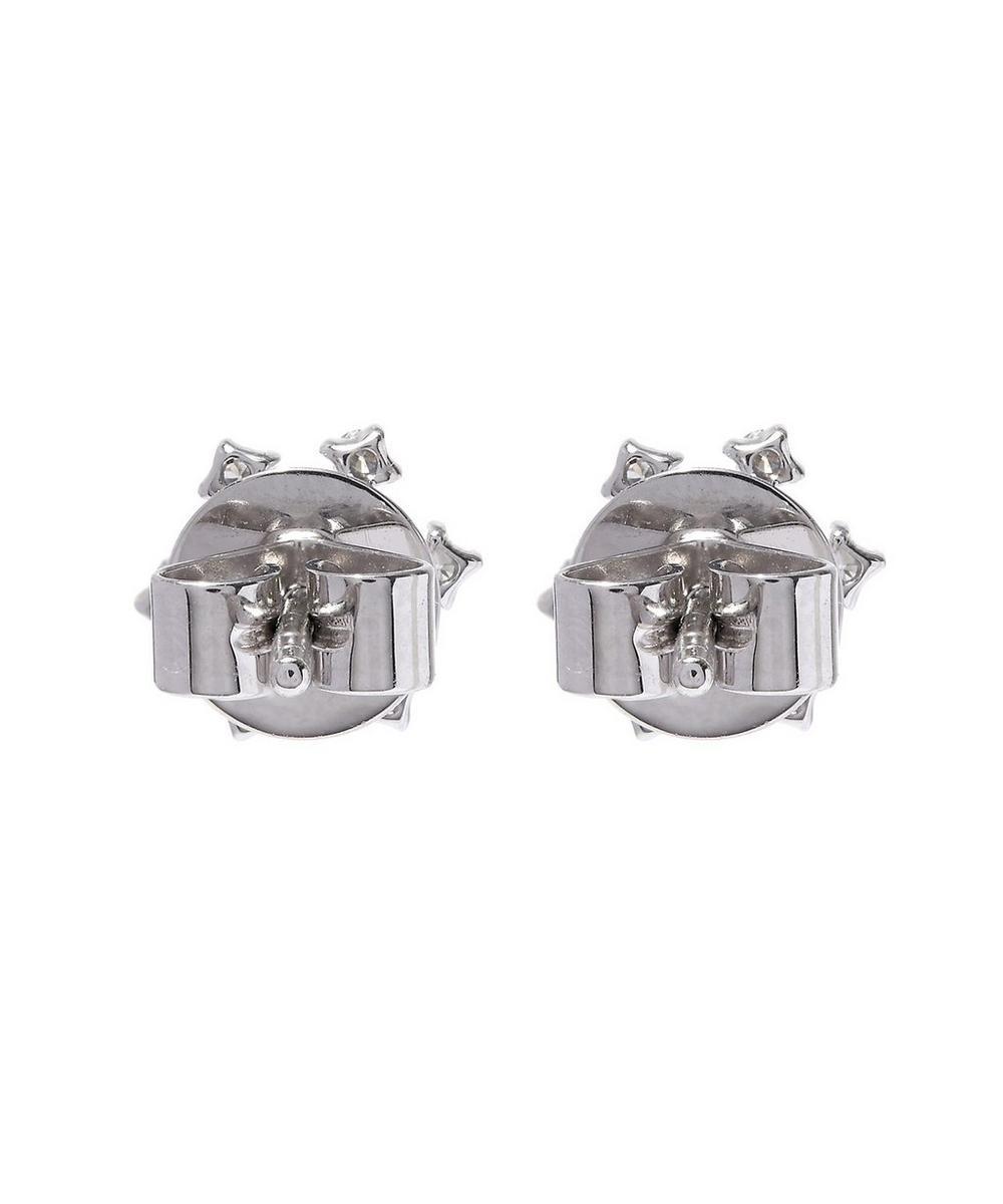 White Gold Snowflake Diamond Stud Earrings