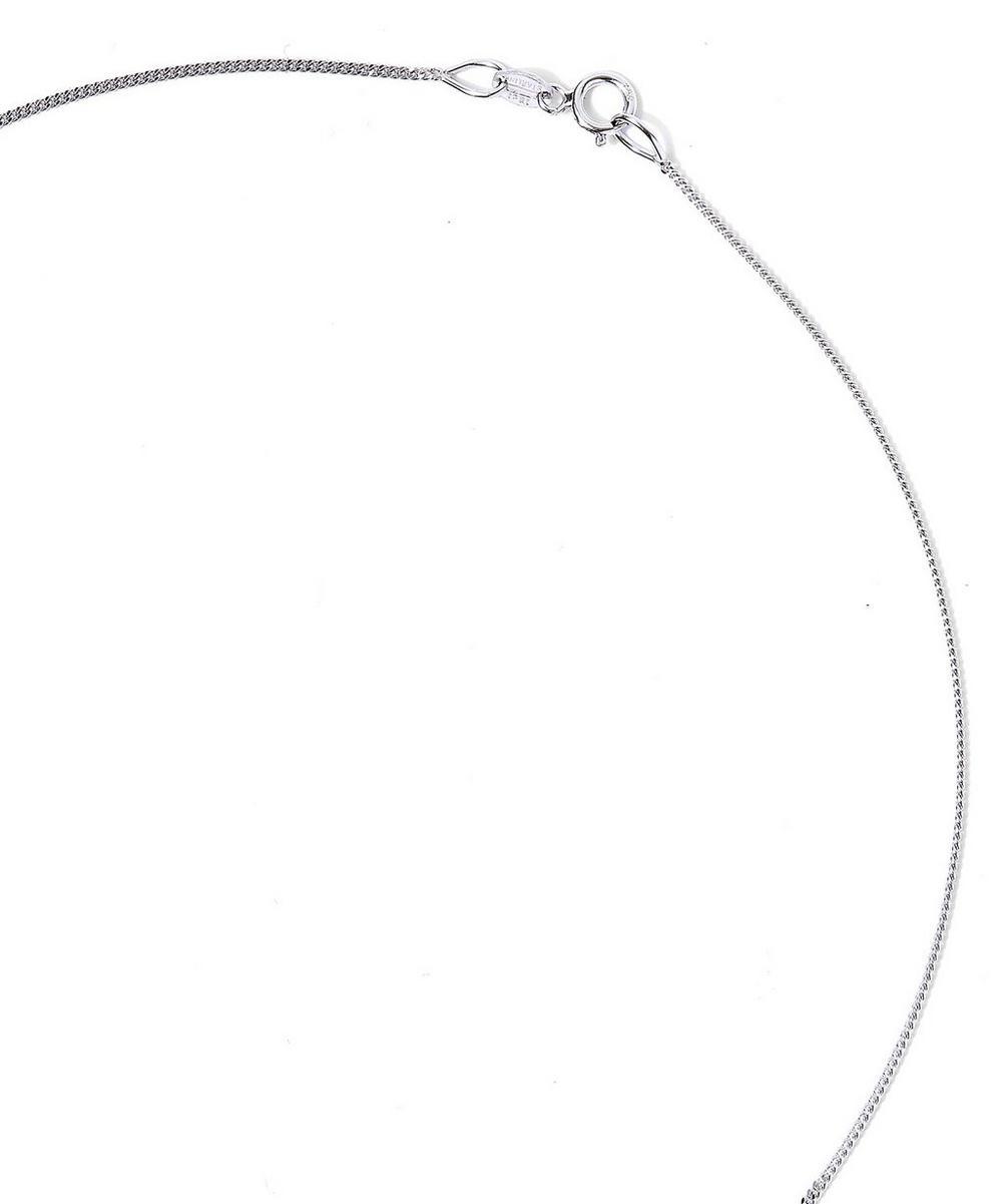 White Gold Seven Diamond Pendant Necklace