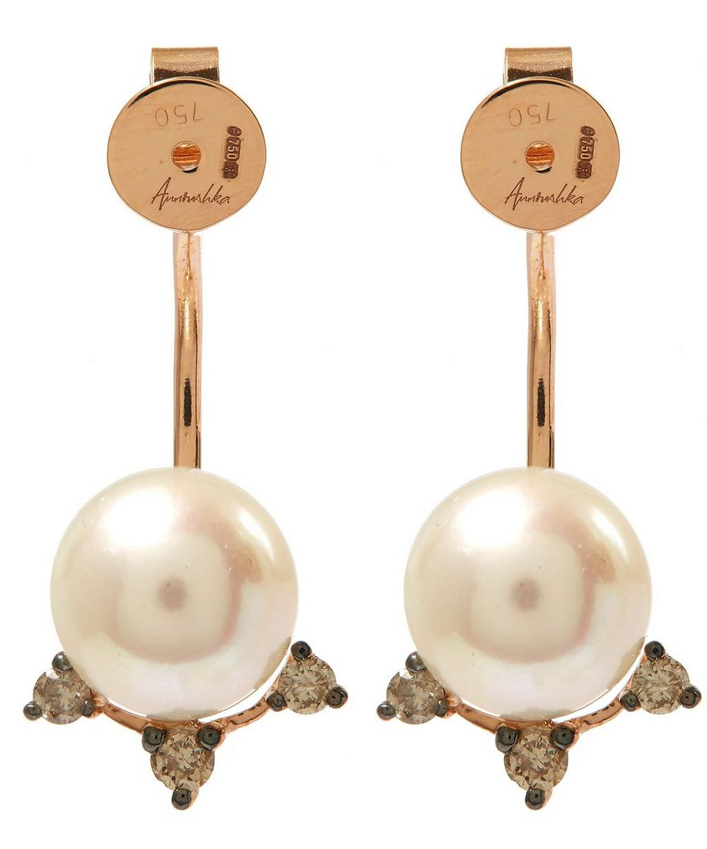 Rose Gold Pearl Earring Backs