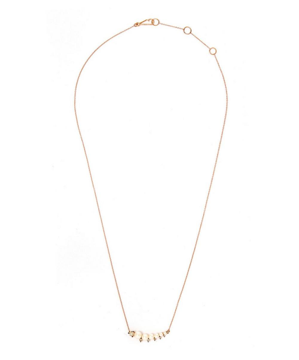 Rose Gold Small Pearl Necklace