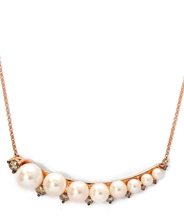 Rose Gold Large Pearl Necklace