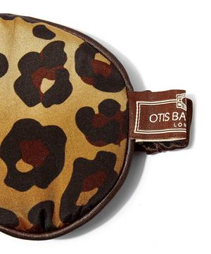 Leopard Print Silk Eye Mask