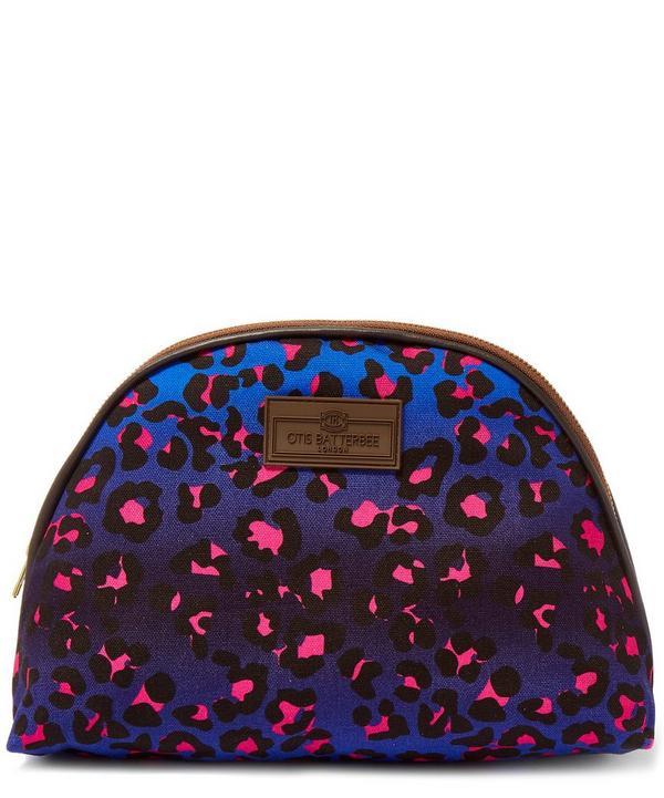Large Leopard Print Luna Makeup Bag