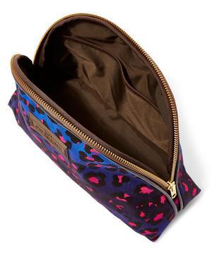 Large Leopard Print Luna Makeup Bag