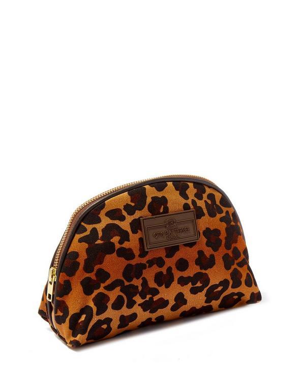 Small Leopard Print Luna Makeup Bag