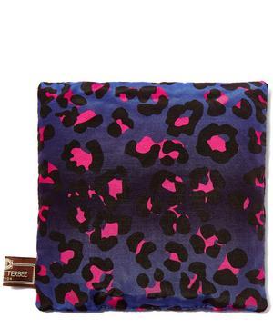 Leopard Print Lavender Silk Square