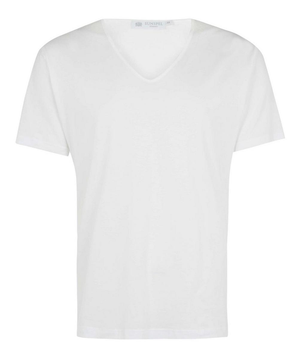 Superfine Low V-Neck Underwear T-Shirt