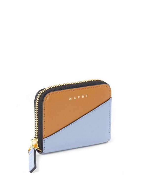 Small Bi-Colour Zip Around Wallet