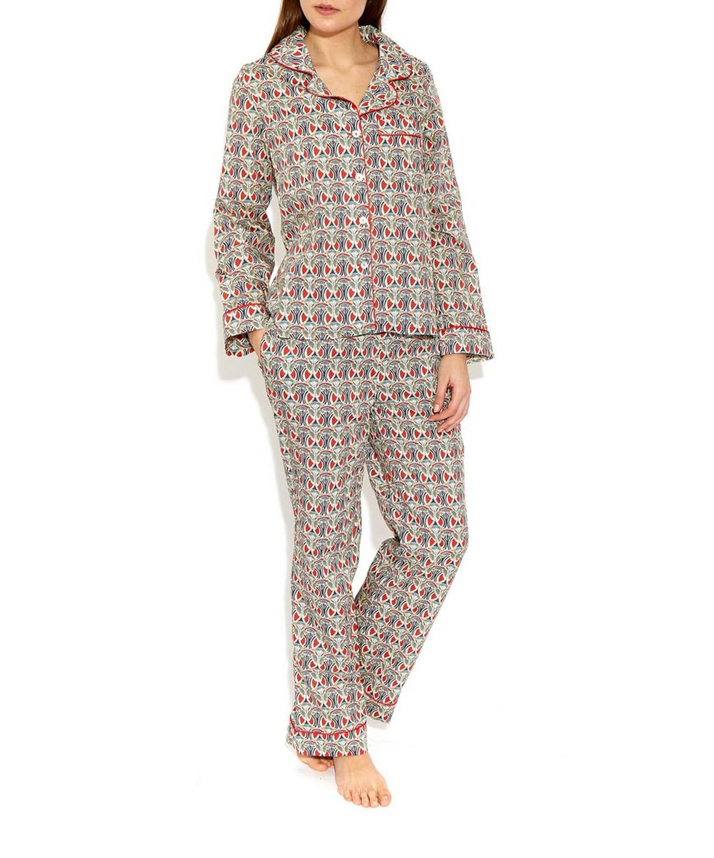 Mauverina Cotton Long Pyjama Set