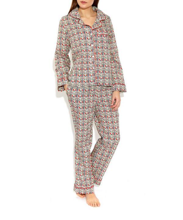 Mauverina Cotton Long Pyjama Set