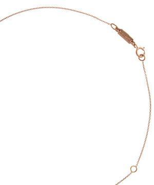 Rose Gold Garnet Baguette Necklace