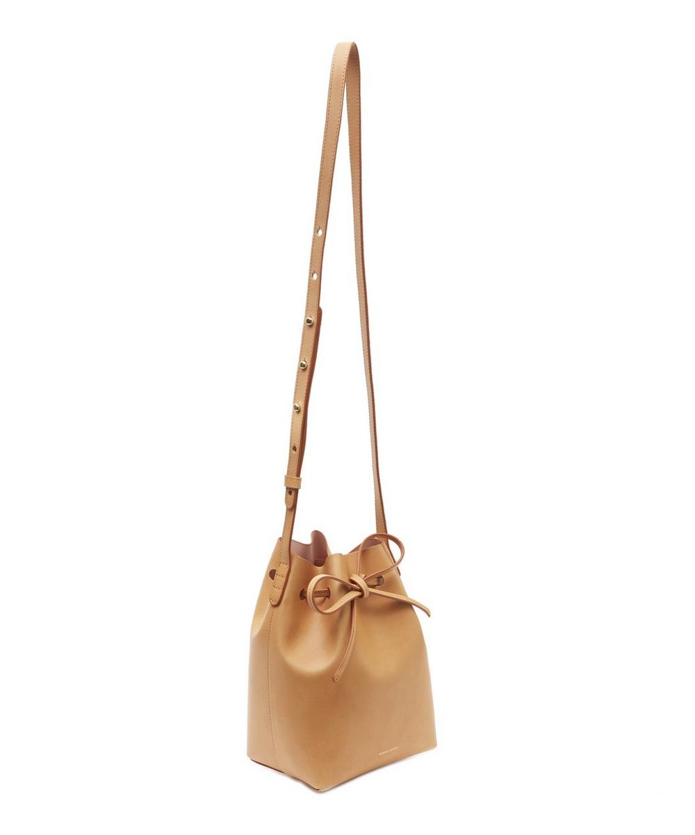Vegetable Tanned Leather Mini Bucket Bag