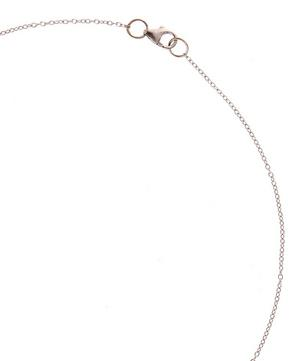 Mini White Gold Crescent Moon Necklace