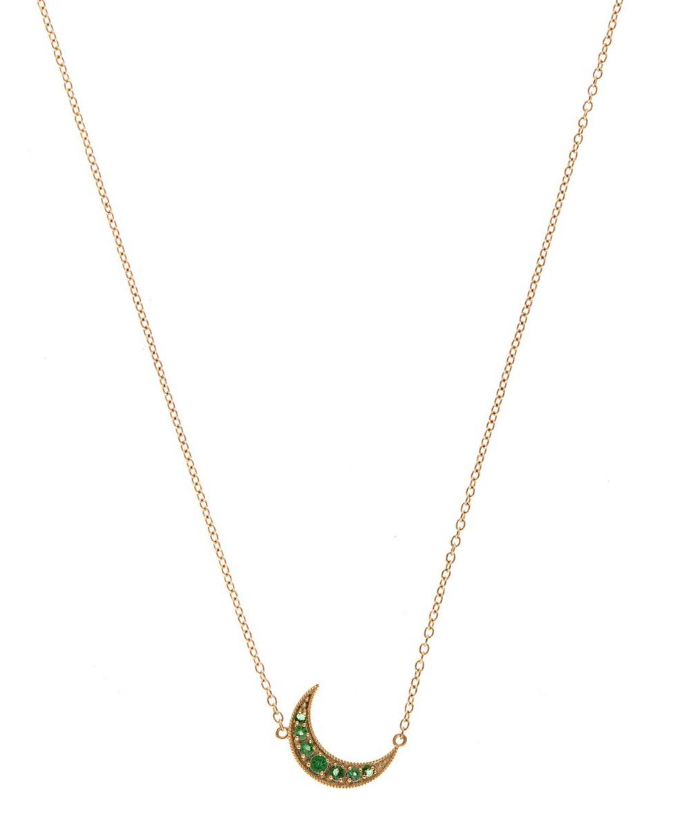 Mini Gold Crescent Moon Necklace