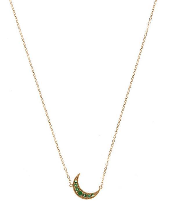 Mini Gold Crescent Moon Necklace
