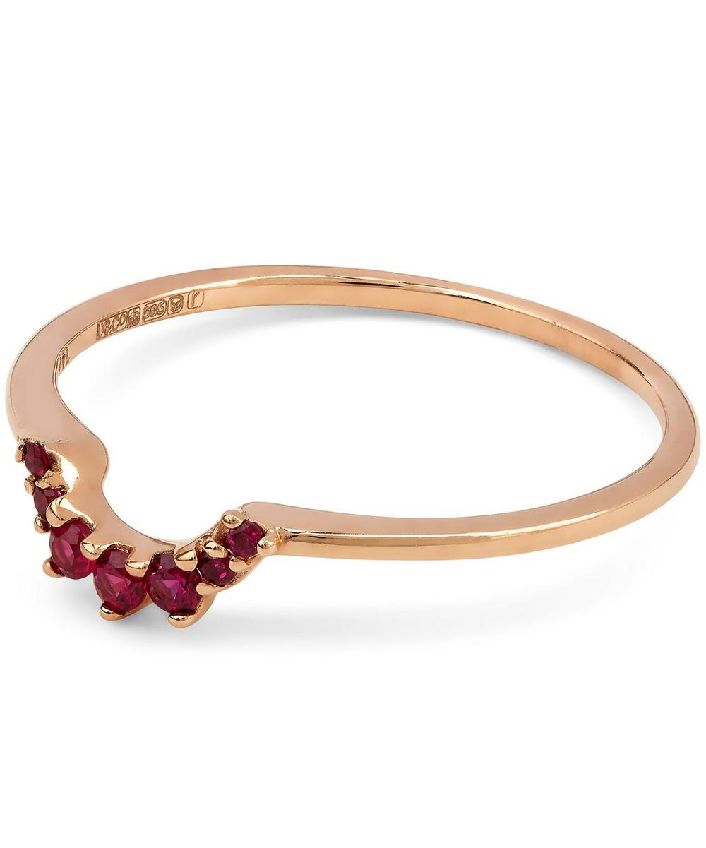 Ruby and Rose Gold Tiara Band Ring