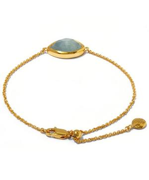 Gold-Plated Aquamarine Siren Teardrop Bracelet