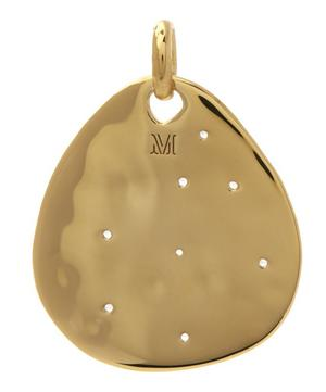 Gold-Plated White Topaz Siren Scatter Teardrop Pendant