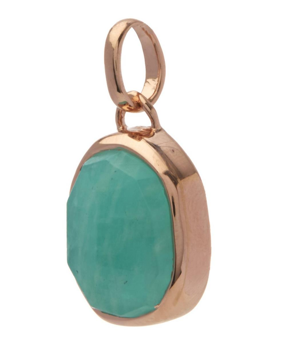 Rose Gold-Plated Amazonite Siren Medium Bezel Pendant