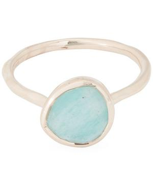 Rose Gold-Plated Amazonite Siren Stacking Ring